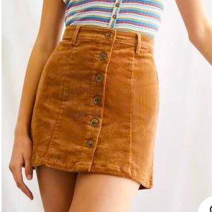 Copper Corduroy Skirt